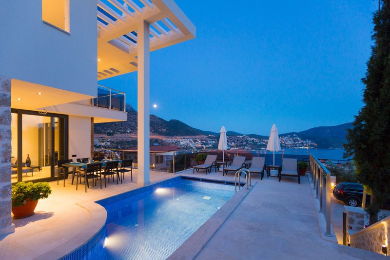 Zenato at Mavi Su - luxury 3 bedroom apartment in Kalkan with own pool