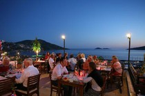 Just one of Kalkan's many terrace-top restaurants