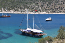Enjoy a lazy day at sea on a Kalkan gulet cruise