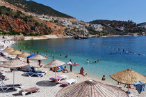 Kalkan's attractive town beach