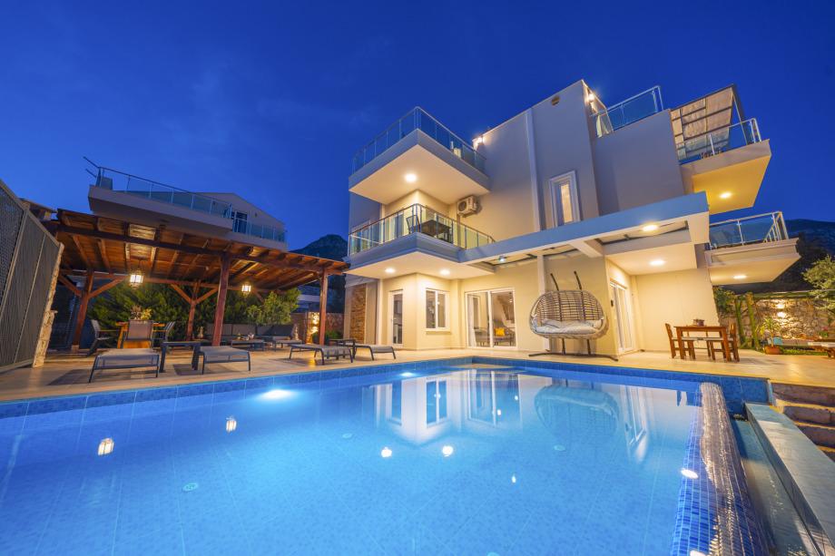 A 5 bedroom villa in Kalkan for holiday rental